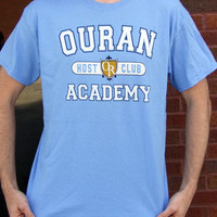 Ouran High School Host Club Academy Cosplay T-Shirt Anime Themed Tee NEW - blue