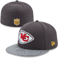 Mens New Era Graphite Kansas City Chiefs 2014 NFL Draft 59FIFTY Fitted Hat