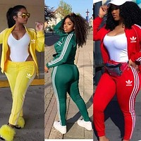 Women Long Sleeve Shirt Sweater Pants Sweatpants Set Two-Piece Multi-color selection