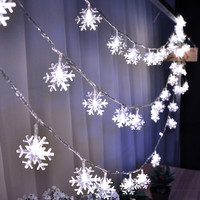 220V 10M 50LED Christmas lights snowflake lamp holiday lighting for ourdoor/wedding party decoration curtain string lights