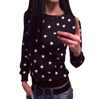 bts 2016 Women Hoodies Europe And US Candy Code Long Sleeve Star Print Pullover Sweatshirt Jumper Tops unicorn