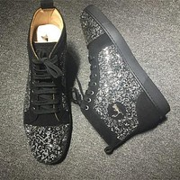 Christian Louboutin CL Rhinestone Style #2102 Sneakers Fashion Shoes Online