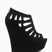 Caged PU Caged Wedge