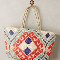 Banago Nakula Tote in Blue Motif Size: All Bags