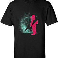 Selfie Before Surfie Spacesuit surfing Surf T-Shirt Outer Space Surfer Gift Tee Shirt Tshirt Mens Womens Kids MADLABSGEAR MLG-1143