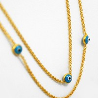 Evil Eye Gold-plated Necklace
