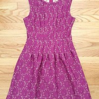 Raspberry Lace Party Dress