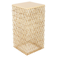 Ella Woven Side Table, Cream