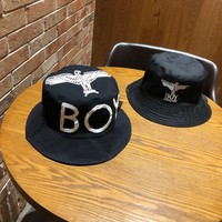 """Boy London"" Unisex Personality Eagle Letter Print Embroidery Fisherman Cap Couple  Sun Hat"