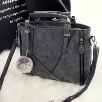 Fashion Large Leather Chic Stylish Crossbody Handbag Shoulder Bag Gift