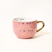 I'm Not Bossy Coral Coffee Mug
