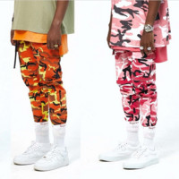 Fashion Casual Loose BDU Street Dance Powder Camouflage Pants 3 Color Orange