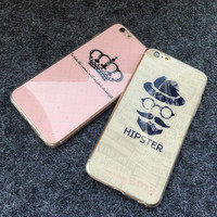 Couple mobile phone case for iPhone 7 7 plus iphone 5 5s SE 6 6s 6plus 6s plus + Nice gift   box!