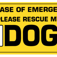 In case of emergency save the dogs sticker