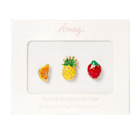 Summer Fruits Home Button Stickers for iPhone, iPad and iPod Touch Set of 3
