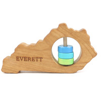 Kentucky State Wooden Baby Rattle™