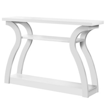 """Accent Table - 47""""L / White Hall Console"""