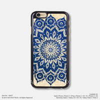 Blue Mandala Floral iPhone Case Black Hard case 457