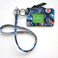 *New With Tags*Vera Bradley Zip ID Case and Lanyard in Marrakesh