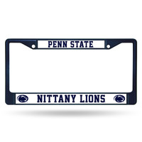 Penn State Nittany Lions Metal License Plate Frame - Navy