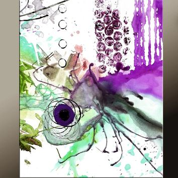 Abstract Modern Art Print 11x14 Contemporary Abstract Art by Destiny Womack - dWo - Whirlwind