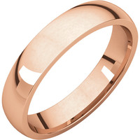 10k Rose-Pink Gold 4mm Light Comfort Fit Wedding Band Ring - Bridal Jewelry: RingSize: 50