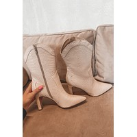 CHINESE LAUNDRY Everly Beige Congo Croc Bootie