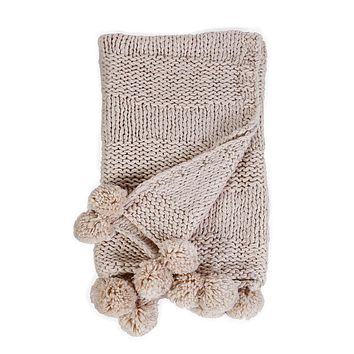 Oulu Natural Throw by Pom Pom at Home