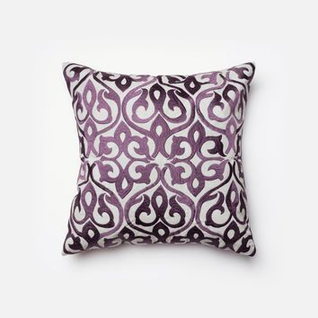 Loloi Grey / Plum Decorative Throw Pillow (P0004)