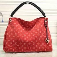 LV Louis Vuitton Fashion Print Letter Ladies Shopping Handbag Shoulder Bag Messenger Bag