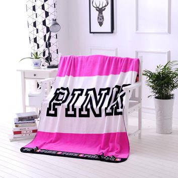 Spring/Autumn Secret Pink Coral Fleece Blanket Bed Sofa Picnic Baby Flannel Small Victoria Blanket Swaddle Sleeper