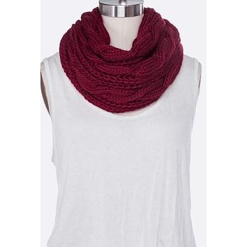 Total Infinity   Cable Knit Infinity Scarf