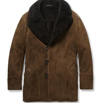 Berluti - Shearling and Leather Coat   MR PORTER