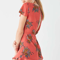 UO Rose Ruffle Romper | Urban Outfitters