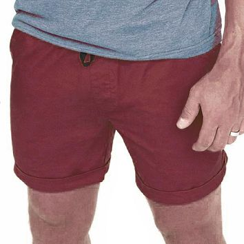 NEW COLOR! The 'Paradise' Stretch Twill Short in Burgundy