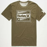 Hurley Man Up Mens Dri-Fit T-Shirt Heather Olive  In Sizes