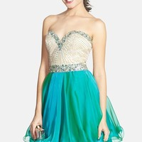 Women's Sherri Hill Embellished Chiffon Fit & Flare Dress
