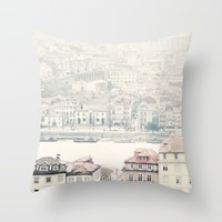 Porto Throw Pillow by Ingrid Beddoes | Society6