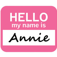 Annie Hello My Name Is Mouse Pad