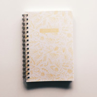 Golden Botanical Academic Planner