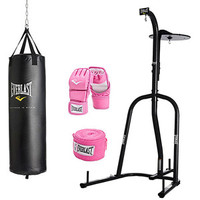 Walmart: Everlast Dual-Station Heavy Bag Stand and Women's 70lb Boxing Kit Value Bundle