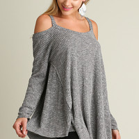 Berkeley Cold Shoulder Tunic Sweater