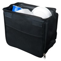 Evelots Automotive Trash Stand Basket & Leakproof Car Garbage Bin, Black