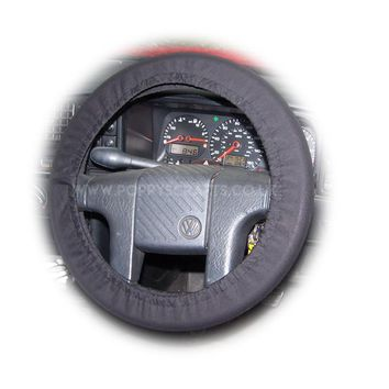 Black Cotton car steering wheel cover