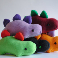 Stegosaurus Plushie CHOOSE YOUR COLORS by radtastical on Etsy