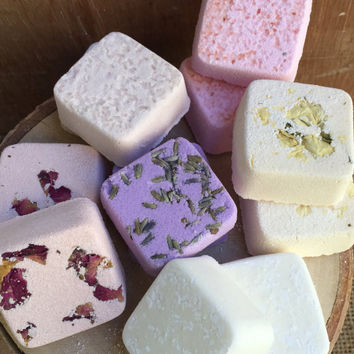 Bath Bombs Set of 12 - Aromatherapy Bath Bombs - Natural Bath Melts - Wedding Baby Shower Favors - Gifts for Her - Gifts for Mom - Spring