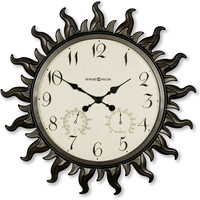 0-005369>Sunburst II Wall Clock Metal with Powder Coated Case