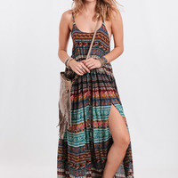 Wild Love Maxi Dress In Blue Moroccan By Novella Royale