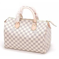 Tagre™ LV Louis Vuitton Trending Women Fashion Print Shopping Leather Tote Handbag Shoulder Bag I