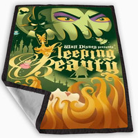 Maleficent Sleeping Beauty Poster Blanket for Kids Blanket, Fleece Blanket Cute and Awesome Blanket for your bedding, Blanket fleece *